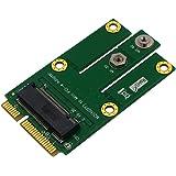 Timack M.2 NGFF Key B to Mini PCI-E Adapter for WWAN, CDMA,LTE, GPS Card (NGFF M.2 to miniPCI-E mPCIE)