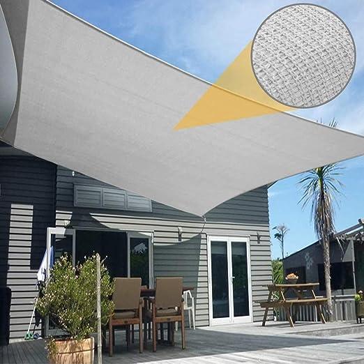 Toldo Vela de Sombra Rectangular 2 x 3 m Protección Rayos UV Solar Protección HDPE Transpirable Aislamiento de Calor para Dar Sombra a su, Jardín, Gris: Amazon.es: Jardín