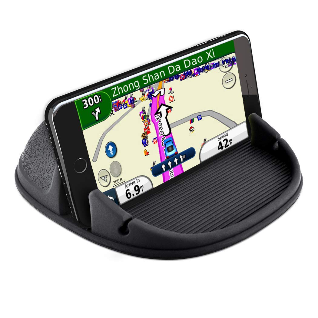 Car Phone Holder Car Phone Mount Anti-Slip Silicone Car Pad for Car Dashboard Cell Phone Holder Car Phone Holder Desk Phone Stand Compatible with iPhone XR/XS,Samsung Galaxy Note 8/9/S8/S9,GPS Devices