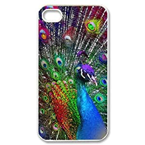 Hard Shell Case Of Peacock Customized Bumper Plastic case For Iphone 4/4s