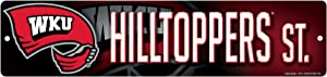 NCAA Western Kentucky Hilltoppers 16-Inch Plastic Street Sign Décor
