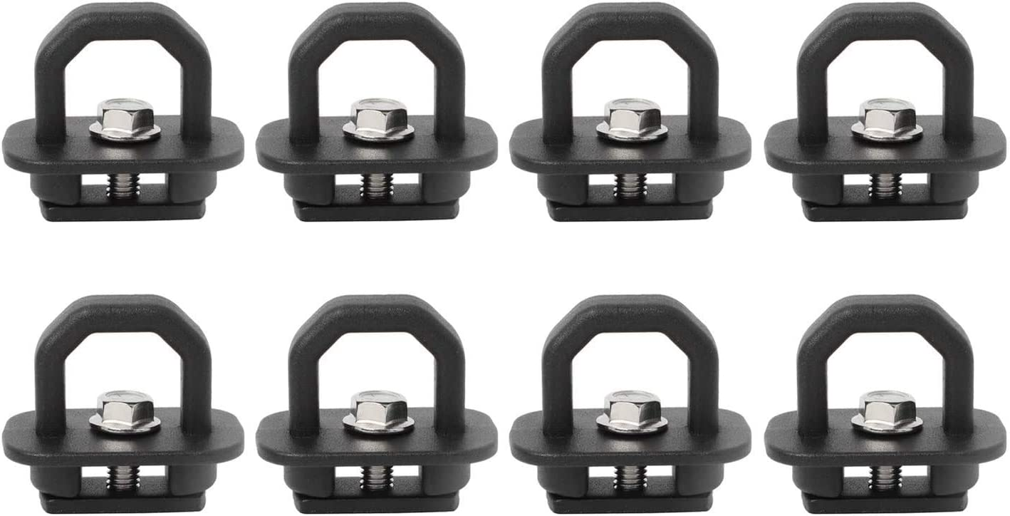 NovelBee 8 Pack of Tie Down Anchor Truck Bed Side Wall Hook Rings Fit for 07-19 Chevy Silverado//GMC Sierra,15-19 Chevy Colorado//GMC Canyon