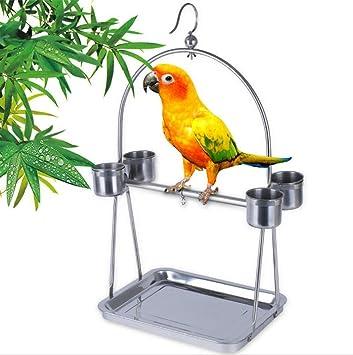 WYXIN Parrot Bird Soporte de acero inoxidable Soporte para jaula ...