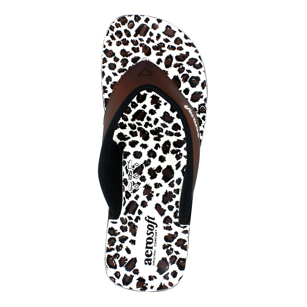 36c493b2a Aerosoft Original Womens Thong Style Sandals with Printed Footbed ...