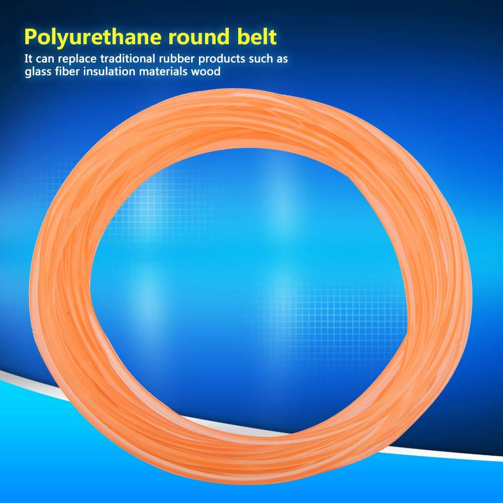 glatte Oberfl/äche Hochleistungs-PU-Antriebsriemen Urethan-Rundriemen f/ür Antriebs/übertragung Orange 2mm*10m Polyurethan Rundriemen
