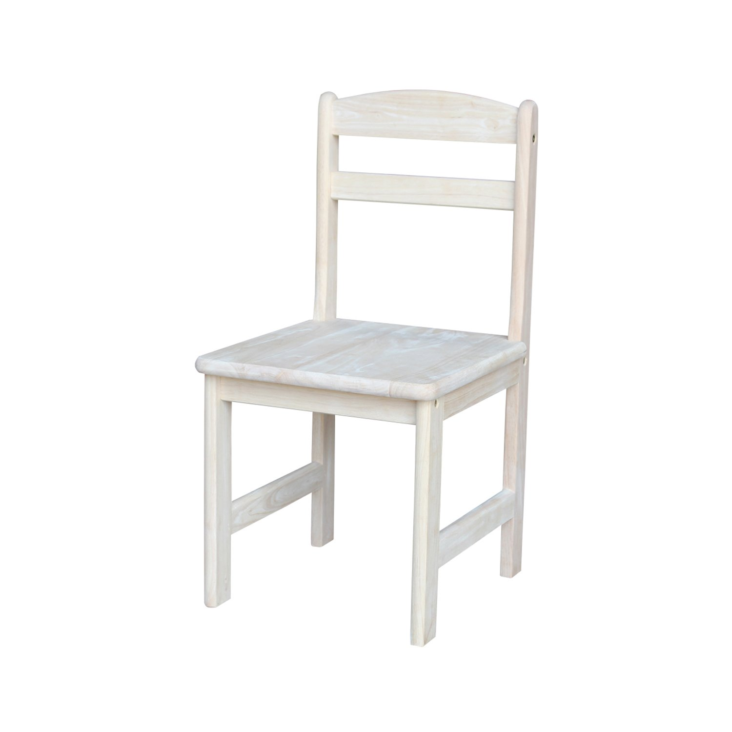 International Concepts Unfinished Juvenile Chair, Set of 2