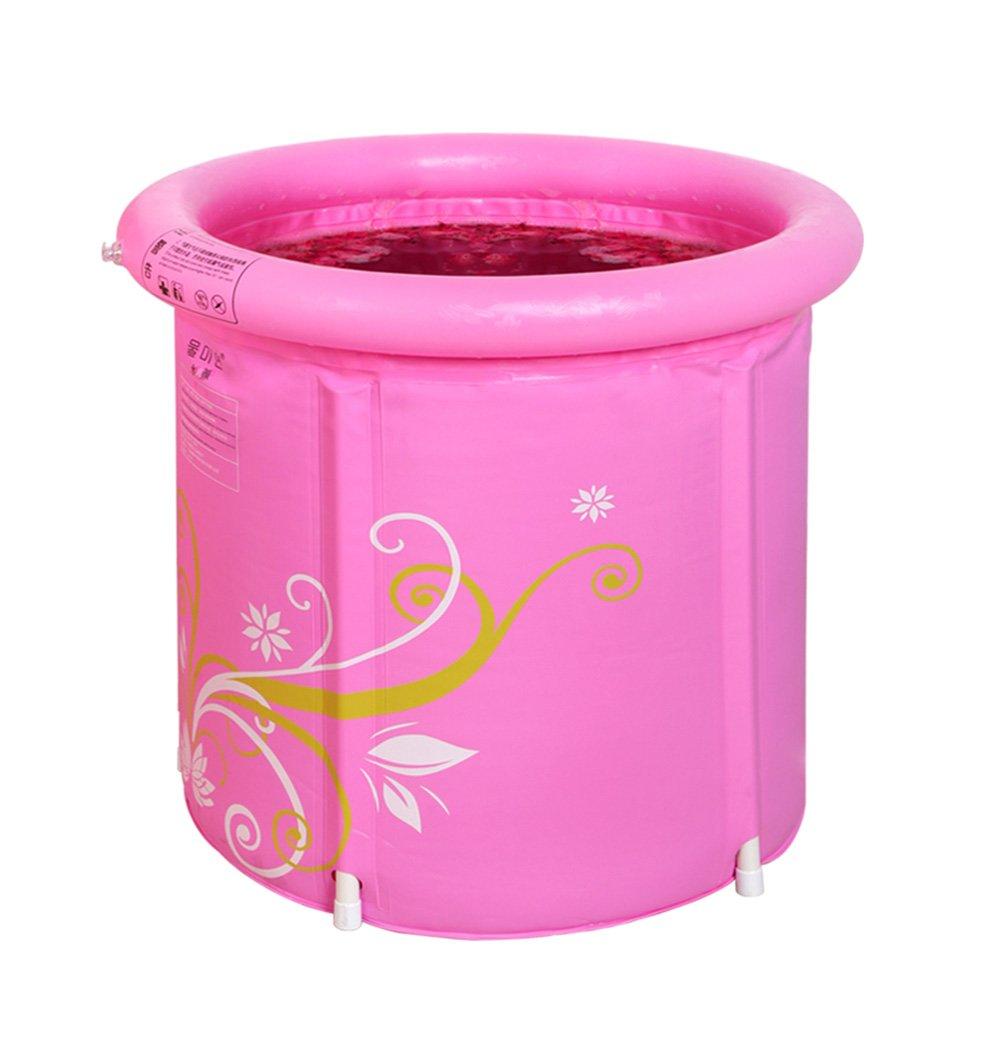Durable Elegante Bañera inflable, Plástico Protección del medio ambiente Pvc de salud Impresión de lujo Plegado inflado Estiramiento portátil Barril de baño para adultos Bebé al aire libre Piscina par
