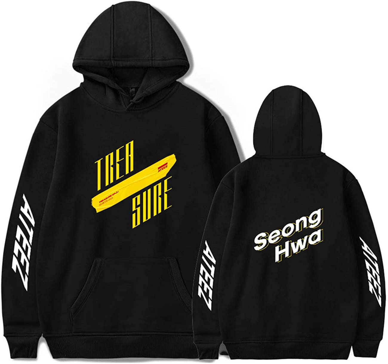 ZIGJOY Unisex ATEEZ Album Hoodie Sweatershirt Jumper Wooyoung San Mingi Yeosang Pullover Hooded Sweater for Fans Atiny