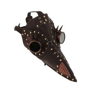 baosity médico de la peste negra máscara pájaros largo pico piel sintética Steampunk Máscara máscara de