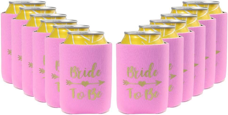 BINE 12 隔热罐套涤纶泡沫 Koozie Beer/Soda   适合单身女郎派对、生日、DIY 项目、节日、婚礼、活动