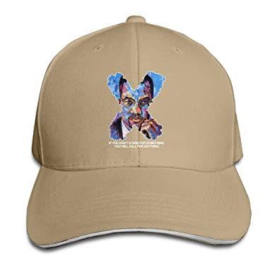 Cavely Malcolm X Black History Sandwich - Gorra Ajustable, Color ...