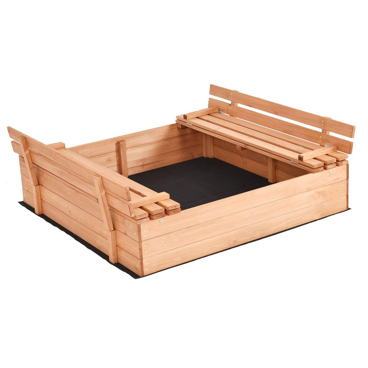 USA_BEST_SELLER Children Outdoor Foldable Retractable Sandbox Bench Seat Box by USA_BEST_SELLER (Image #1)