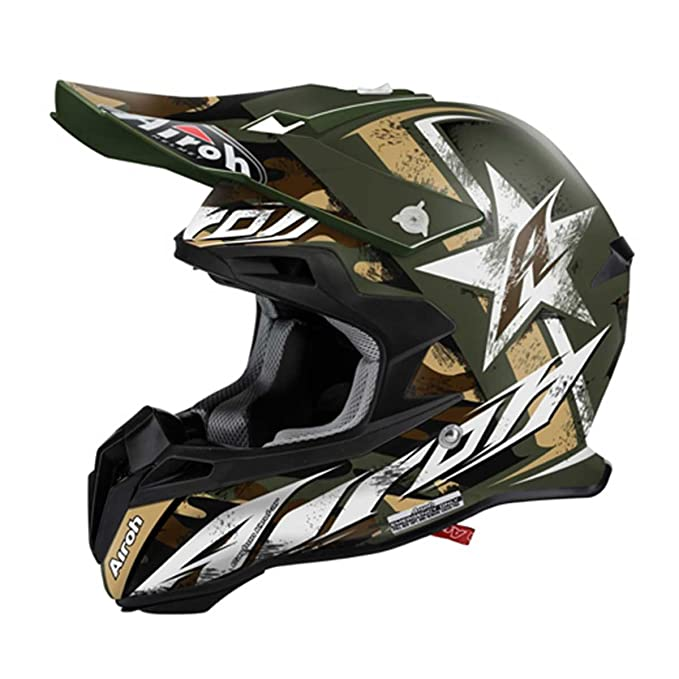 Airoh Casco Terminator 2.1 Ground - Verde Mate: Amazon.es: Deportes y aire libre