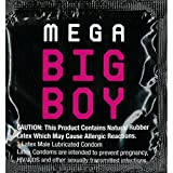 Beyond Seven Mega Big Boy Extra Large Lubricated Latex Condoms and Silver Pocket/Travel Case-24 Count