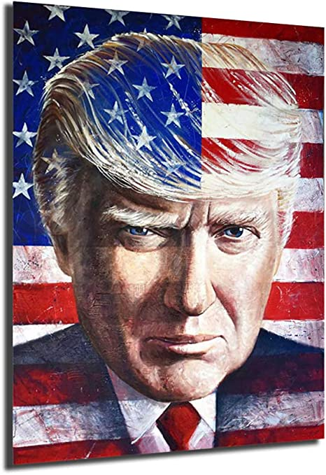 Amazon.com: Donald Trump - Póster de pintura sobre lienzo, arte moderno,  decoración de pared para sala de estar, decoración del hogar: Everything  Else