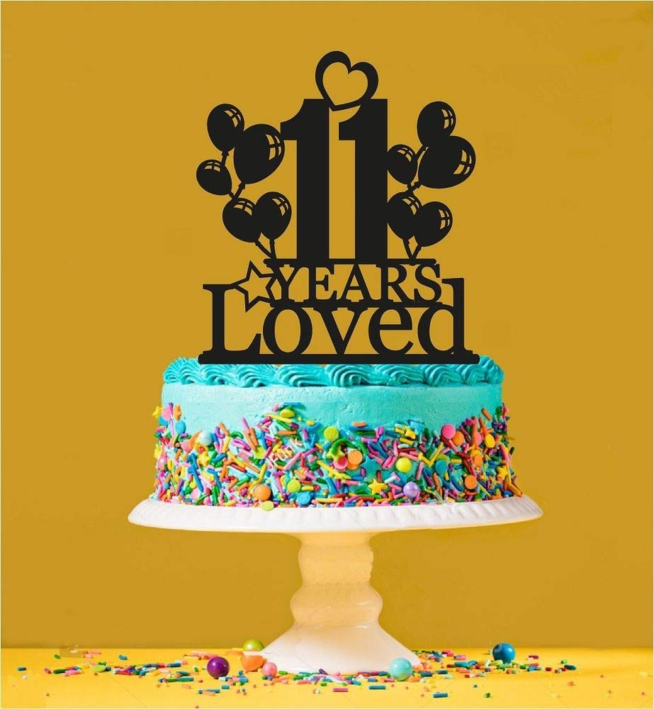 11th Birthday Loved Cake Topper - 11 Years Old - Eleventh