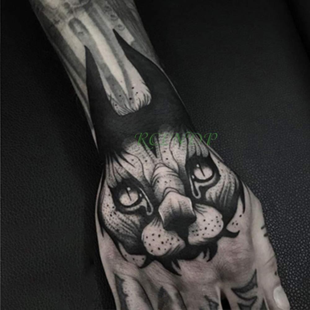 ljmljm 4 Piezas Impermeable Tatuaje Pegatina Flor Luna Tatto ...