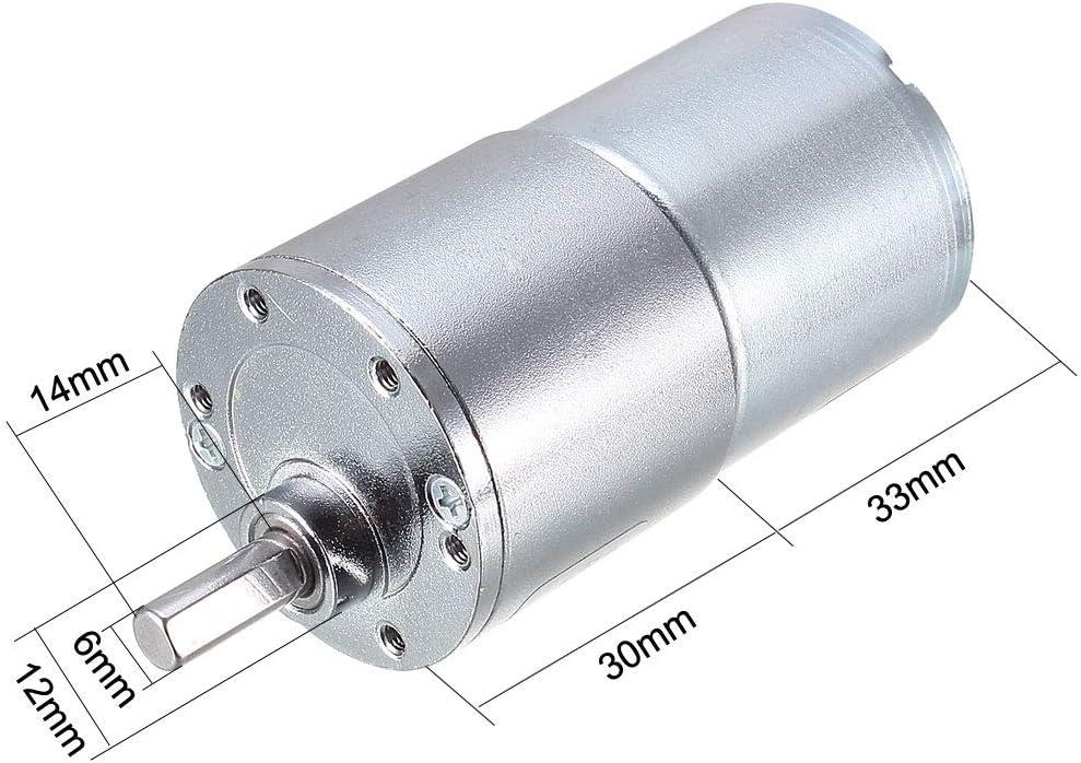 haute performance et durable Moteur /à engrenages miniature 12V 10Rpm DC moteur /électrique /à vitesse lente avec rotation de lengrenage muet terminal