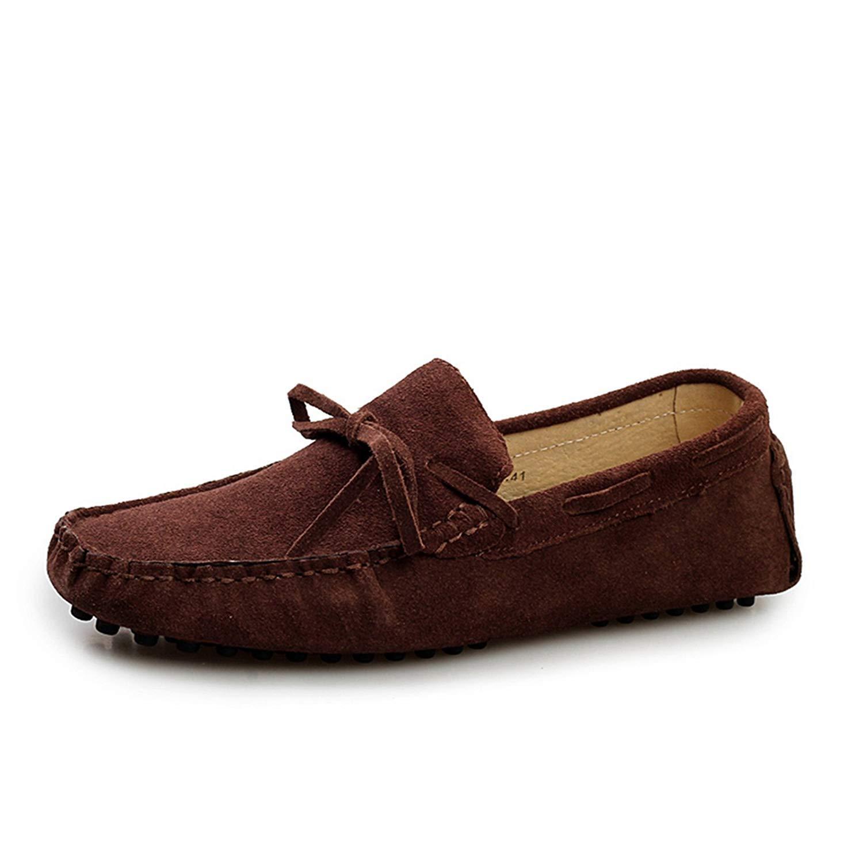 Willsego Mocassino da Uomo Uomo Uomo in Pelle Scamosciata Marrone Mocassini da Guida Penny Boat scarpe 11 M UK (colore   -, Dimensione   -) 59df36