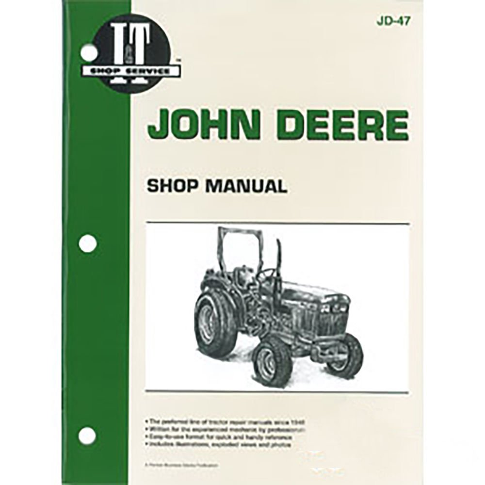 JD-47 New Shop Manual for John Deere Compact Tractor 1050 850 950:  Amazon.com: Industrial & Scientific
