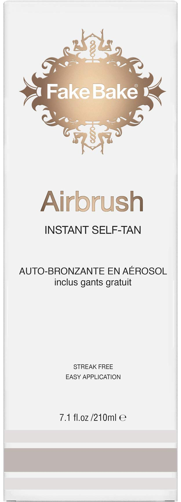Instant Self Tanning Spray AirBrush by Fake Bake | Fast Drying Formula that Develops the Perfect Golden Bronze Tan in Few Hours | Refined 360˚ Nozzle Gives a Continuous Spray at Any Angle | 7.1 fl oz by Fake Bake