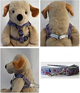 "product image for Diva-Dog 'Democrat Doggie' Custom 5/8"" Wide Dog Step-in Harness with Plain or Engraved Buckle, Matching Leash Available - Teacup, XS/S"