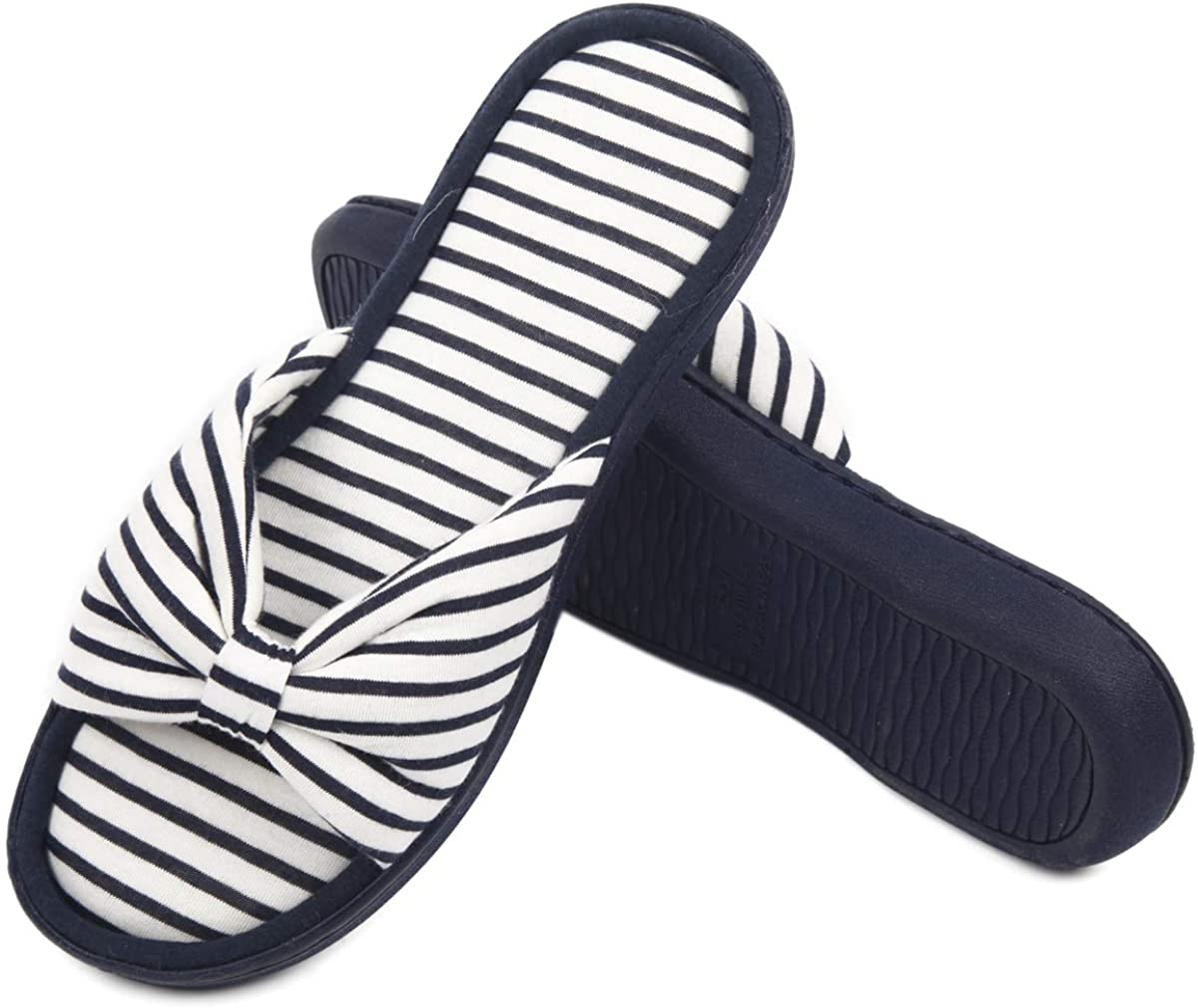 Caramella Bubble Women's Memory Foam Open Toe Slippers, Ladies Summer Spa House Slides Mules Bedroom Indoor Outdoor Sandals
