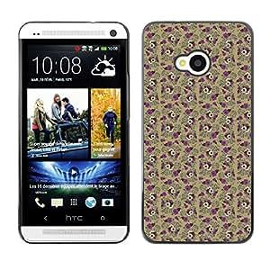 ZECASE Funda Carcasa Tapa Case Cover Para HTC One M7 No.0002936