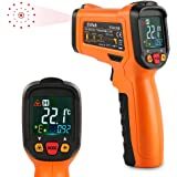 ES6530B Non-Contact Digital laser IR Infrared Thermometer Temperature Gun For Kitchen Cooking Automotive Industrial, -58℉ - 1022℉ (-50℃ to 500℃) With Color Backlight LCD Display and Perfect Instant-reading Accuracy, Orange and Black