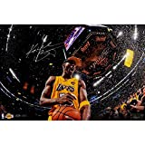 Kobe Bryant Autographed '5x Champion' 16x24 Photo L/E 124 Panini Auth - Authentic Autograph