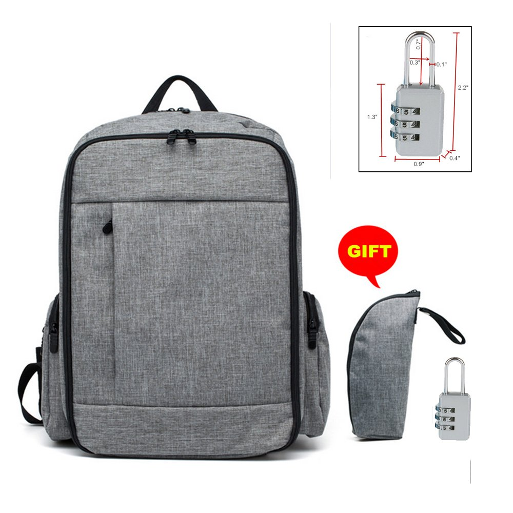 Diaper bags backpack Sunohyesla baby bags for dads with insulated pocket (Gray)