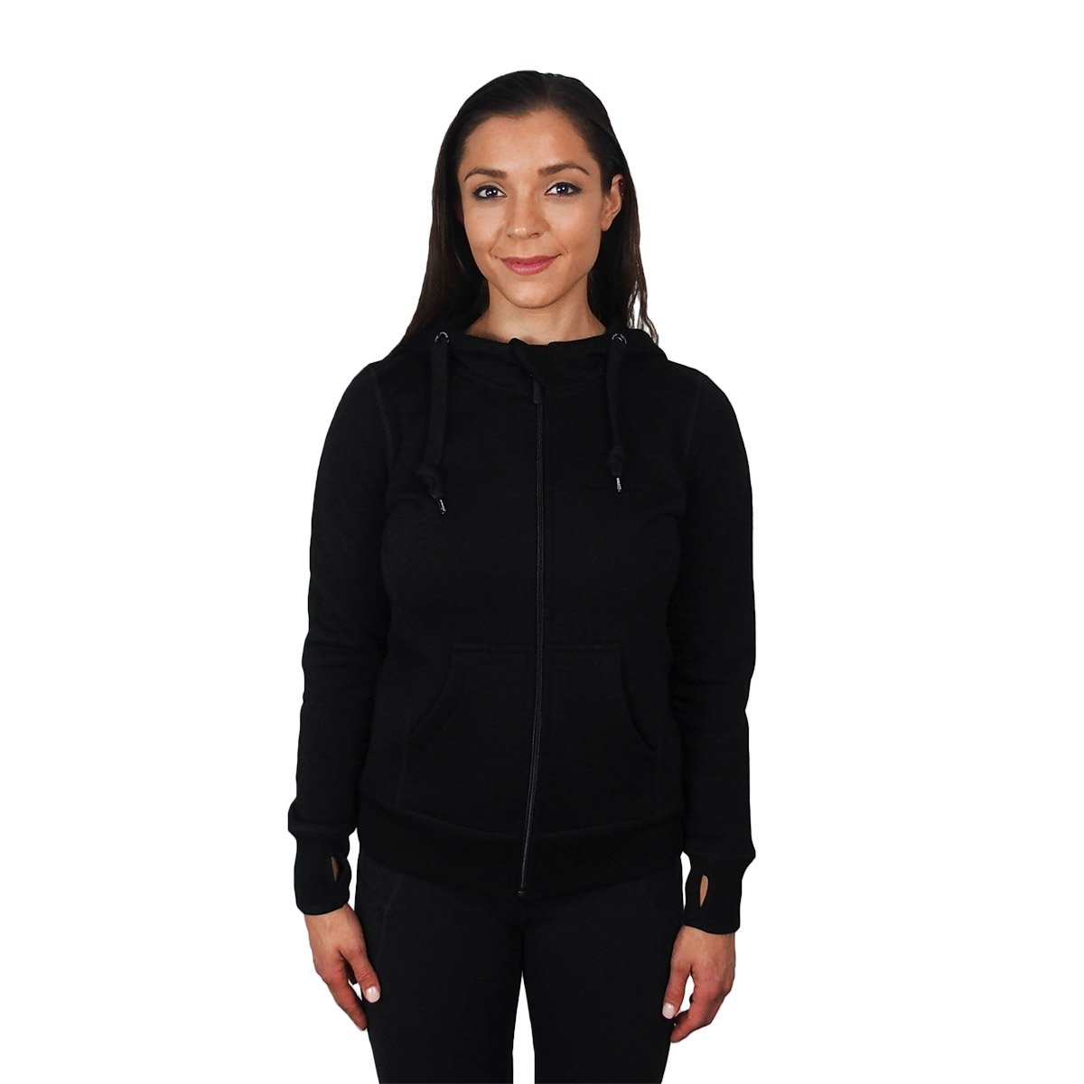 Minus33 Merino Wool Aleutian Women's Expedition Full Zip Hoody Black Medium