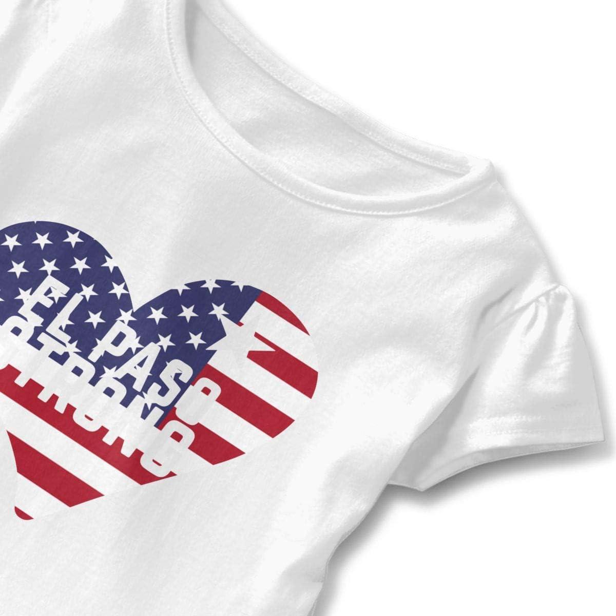 SC/_VD08 El Paso Strong American Flag Kids Children Crew Neck Tshirts Sportwear