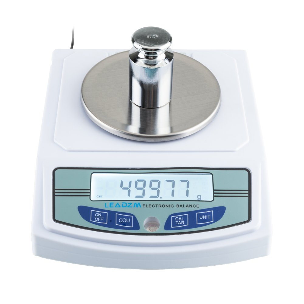 3000G/0.01G Lab Scale Electronic Analytical Precision Experiment Balance with Battery LCD Digital 0.01g Scientific Lab Instrument with 500g Calibration Weight Ready to Use