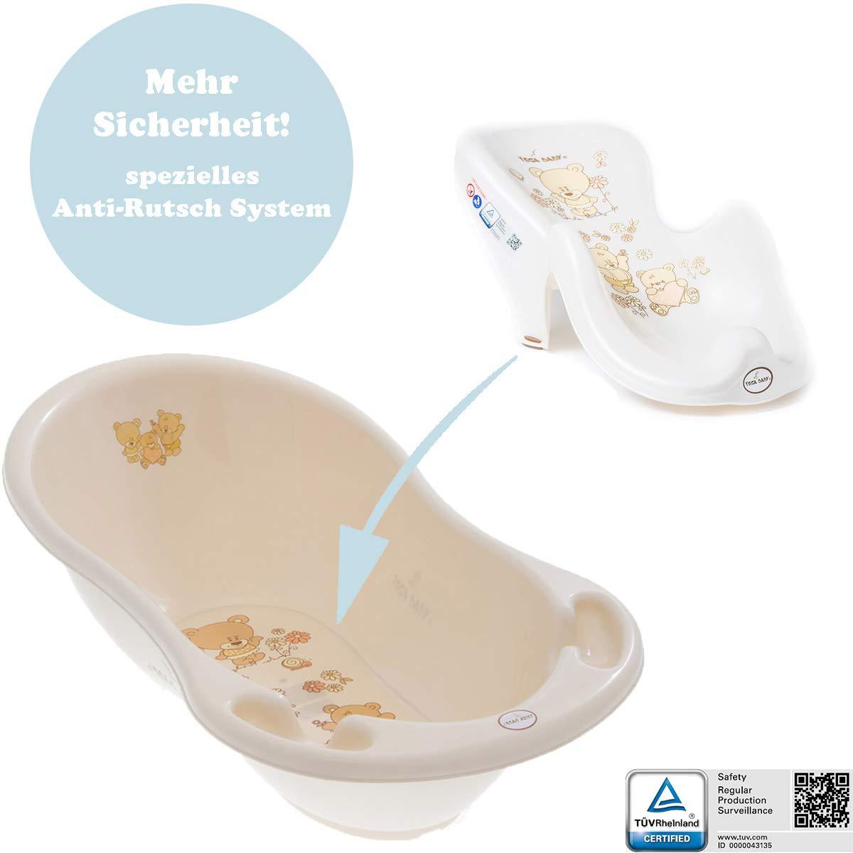 Toilettentrainer T/öpfchen Hocker Baby Badewanne mit Gestell und Badewannensitz T/üv Reihnland gepr/üft! St/änder +Abfluss Badewannensitz Verschiedene Sets f/ür Neugeborene mit Babybadewannen