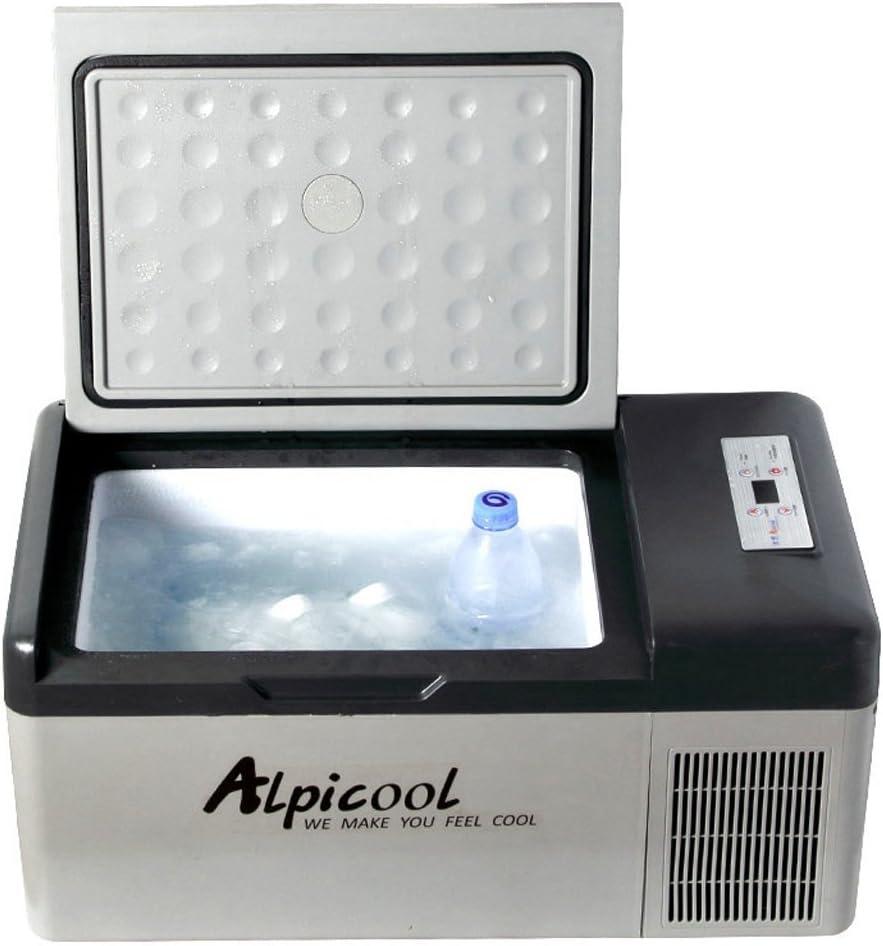 LJ Congelador de refrigerador portátil del compresor del coche de 15 litros, 12 V / 24 V