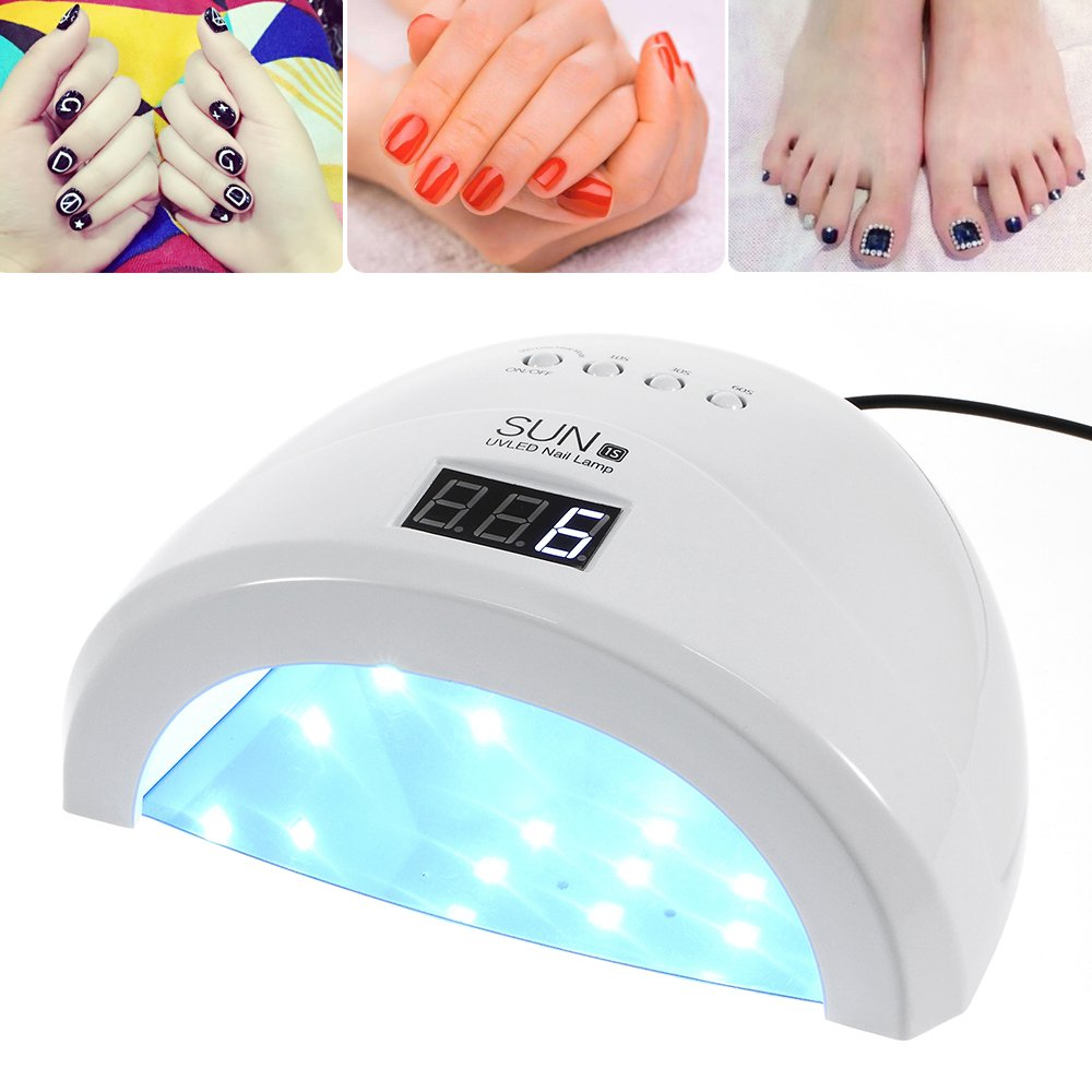 Muswanna 48W LED Nail Curing Lamp UV Nail Dryer,Nail Lamp Curing LED Gel Nail Polish, Professional for Nail Art at Home and Salon