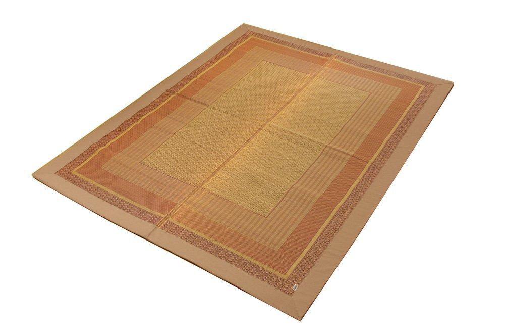 イケヒコ い草ラグ カーペット 2畳 国産 『DXランクス総色』 ベージュ 約191×191cm (裏:不織布) B000F3PHU0  191×191cm