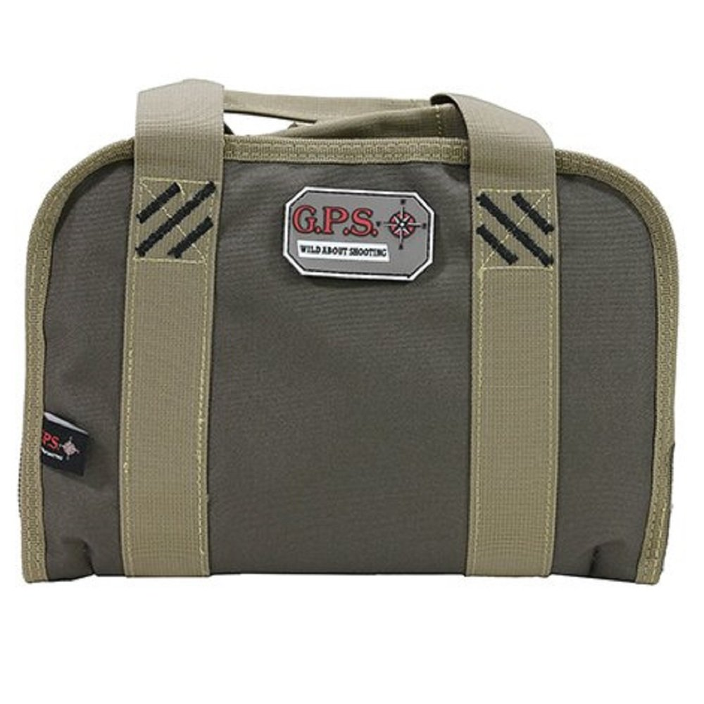 G.P.S. Double Compact Pistol Case, Rifle Green/Khaki, One Size