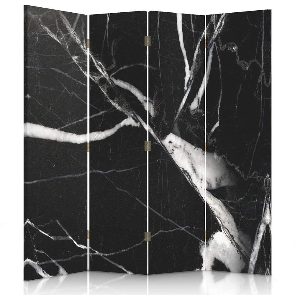 Feeby Frames Paravent d/éco Imprim/é 1 Face 3 pans Chapeau Noir Blanc 110x150 cm