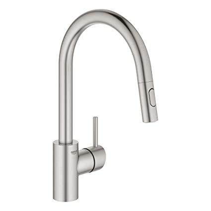 GROHE 32665DC3 Concetto Dual Spray Pull-Down Kitchen Faucet ...