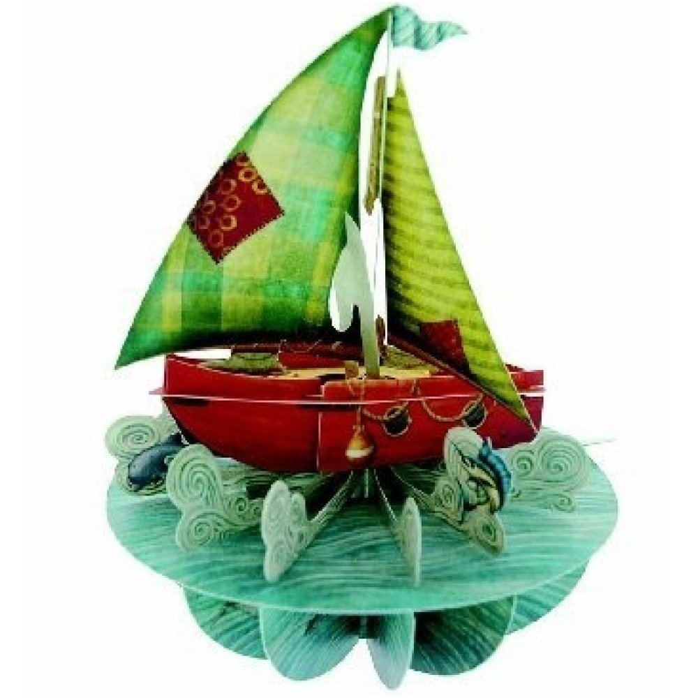 Sailing Santoro 3D Pirouette Greeting Card