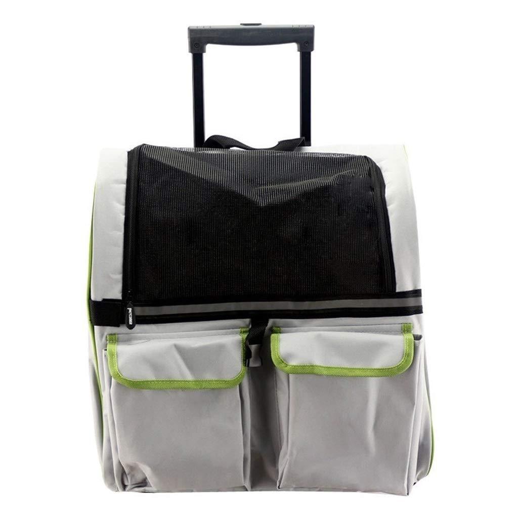 JN 多機能ペットトロリーケース、バックパック犬と猫のポータブルバックパック犬トロリーケース(サイズ:45 * 24 * 38) (Color : Gray) Gray