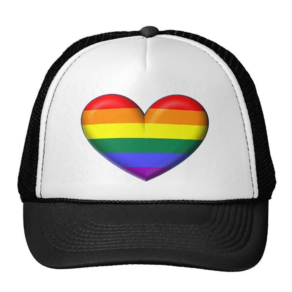Smity 106 Rainbow Heart Trucker Hat
