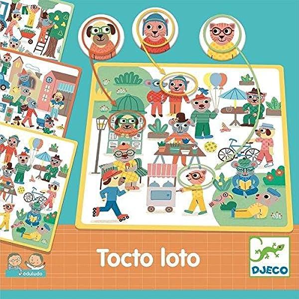 DJECO Eduludo Tocto Loto Juego de Acción y Reflejos , 15: Amazon.es: Juguetes y juegos