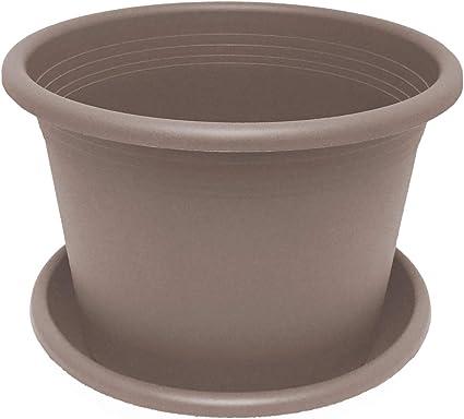 Blumentopf mit Untersetzer Keramik 0,6 Liter Übertopf Topf Ø 11 cm Pflantgefäß