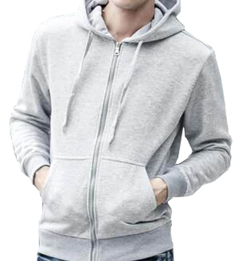 Only Faith Mens Thin Cardigan Hooded Jacket Zipper Color Male Sports Fashional Coat