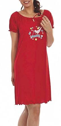 e503777992 Graziella Nachthemd Katja 95 cm lang Sleepshirt mit Kräuselsaum 36/38  Nachtwäsche 100% Baumwolle