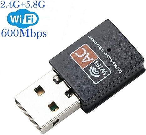 Amazon.com: Adaptador WiFi de 600 mbps, XVZ Dual Band 2.4G ...