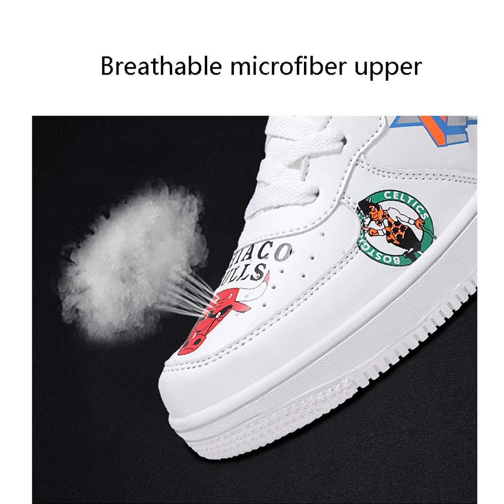 Haut pour Aider labsorption des Chocs antid/érapant Respirant Hommes et Femmes Chaussures de Sport en Cours dex/écution Couple de Chaussures,White,36 YSZDM Chaussures de Basket-Ball